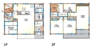 建物プラン例 建物価格1550万円、建物面積101.02m2