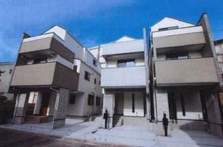 外観です 新築戸建 C棟 4LDK JR南武線「尻手」駅徒歩3分 充実の仕様・設備 LDKは広々17.6帖 床暖房