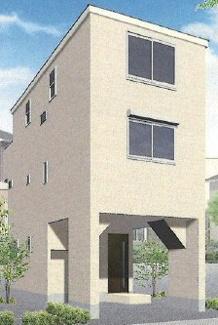 外観パースです 新築戸建 JR南武線「小田栄」駅徒歩10分 充実の仕様・設備 3LDK 南側公園の為陽当り良好