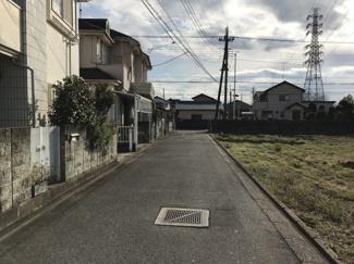 南道川道路を北東側から撮影