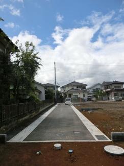 2020年9月3日時点での南東道路を撮影した写真です。(12:00頃撮影)