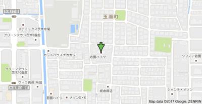 【地図】若園ハイツ