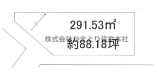 千葉市若葉区加曽利町 土地 小倉台駅  北側も開けており、陽当り良好!