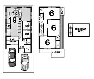 建物参考プラン延床面積:83.97平米