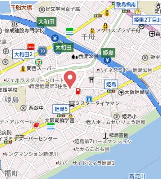 【地図】ブランコート姫島公園