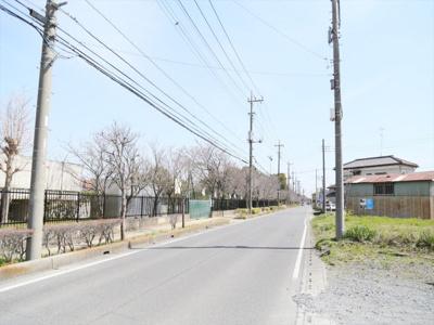 前面道路(西側から)(東鷲宮小学校向いです)