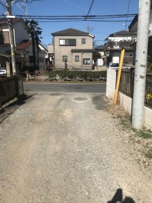 【前面道路含む現地写真】松ヶ崎売地