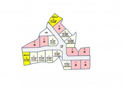 【区画図】YKタウン吉田分譲地