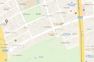 【地図】ジュネーゼグラン京町堀