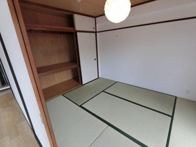 6.0の和室です。 収納もあり様々な用途でお使いいただけます。