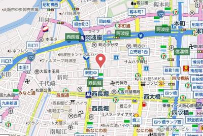 【地図】インペリアル新町