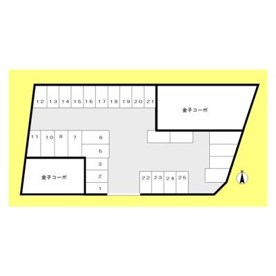 【区画図】4丁目金子駐車場