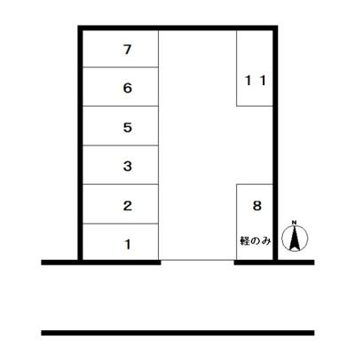 【区画図】金子駐車場
