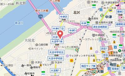 【地図】APT新梅田