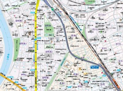 【地図】レジデンス塚本ヴィークス