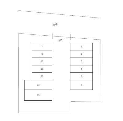【区画図】海老原駐車場