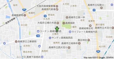 【地図】プルミエール高槻 (株)Roots