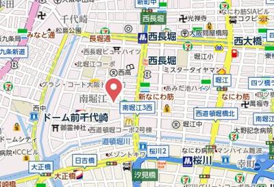 【地図】パークヴィレッジ南堀江