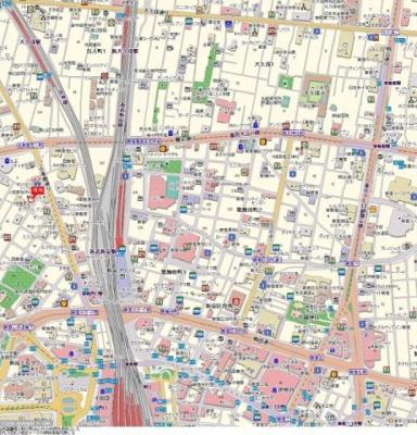 【地図】パレステュディオ新宿ウエスト