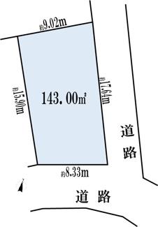 【土地図】横浜市鶴見区北寺尾2丁目 売地(仲介手数料不要)