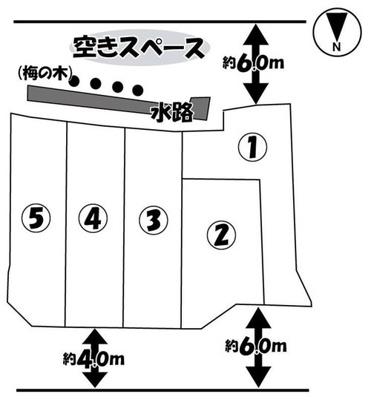 【区画図】伏見区羽束師古川町 新築戸建