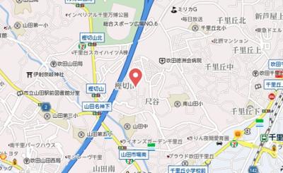 【地図】MS.hills千里丘north