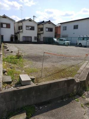 【前面道路含む現地写真】下坂部事業用売地