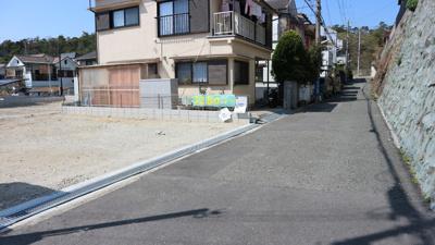 【前面道路含む現地写真】《》神戸市垂水区北舞子1丁目 1号地 新築戸建