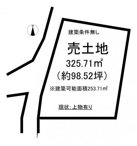 【土地図】山田町法田 売地