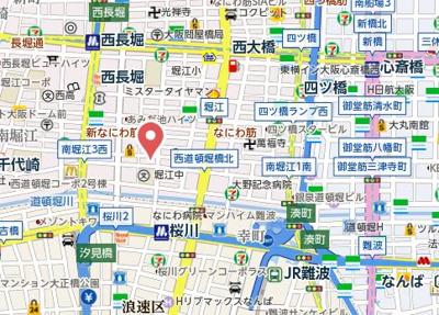 【地図】エステムコート南堀江Ⅱレアリス