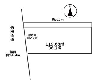 【土地図】京都市南区東九条中御霊町 売地