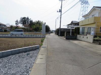 【前面道路含む現地写真】鶴ヶ島市高倉売地
