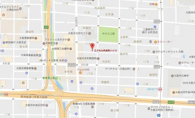 【地図】エクセル内本町ハイツ