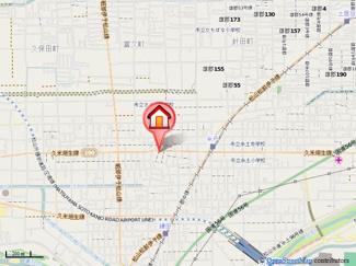 【地図】浅野サンハイツ・