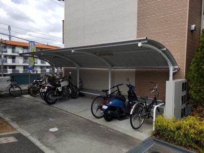 駐輪場☆神戸市垂水区 賃貸 サンフォルテ☆
