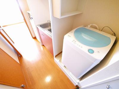 洗濯機付きです