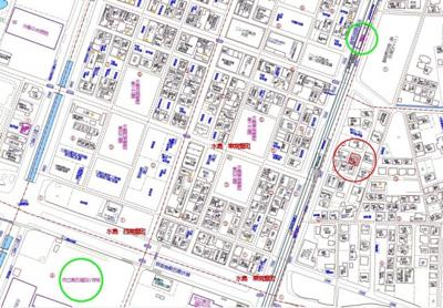 【地図】中畝4丁目売地 解体更地渡し