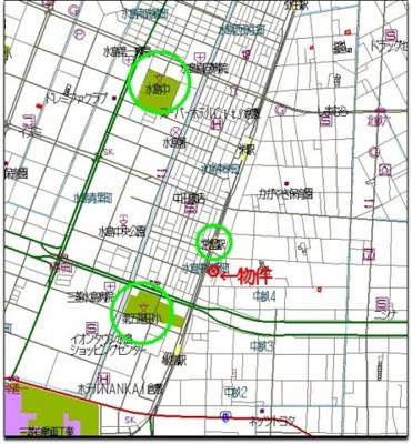 【周辺】中畝4丁目売地 解体更地渡し