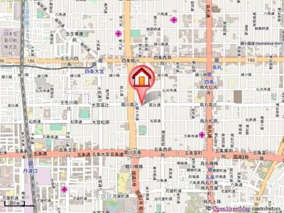 【地図】Avenue高辻(アベニュー高辻)