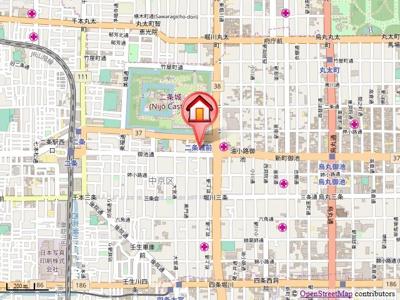 【地図】サンハウス御池