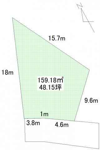 【土地図】吉田2丁目売地(建築条件付きです)