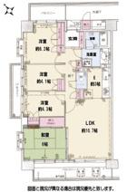 北鴻巣パーク・ホームズ参番館 5階の角部屋の画像