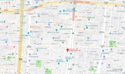 【地図】アパートメント谷町