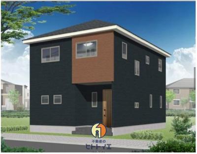 【外観パース】八女市本町新築建売住宅
