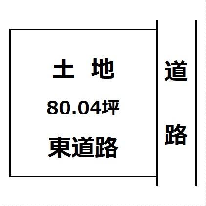 【土地図】大曲小学校まで600m 大仙市大曲あけぼの町の住宅用地です
