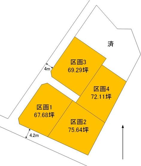 【土地図】青柳町5区画土地