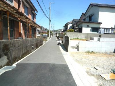 【前面道路含む現地写真】いの町枝川新築戸建