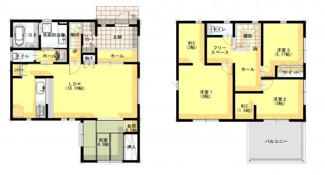 アナハイムAnaheim城西 土地 東金駅 ジブンハウス仕様 建物面積 113.45㎡ 建物価格 1608万円