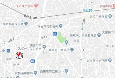 【地図】レオパレスIT(24636-304)