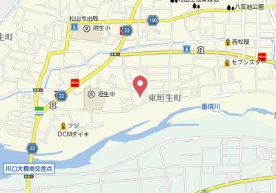 【地図】東垣生一戸建